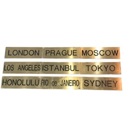 Cities of the World Time Zones Brass Signs