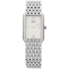 Citizen Elegance Stainless Steel White Dial Quartz Womens Watch BB0190-57A
