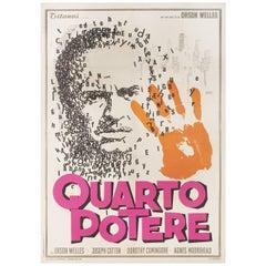 Citizen Kane R1966 Italian Due Fogli Film Poster
