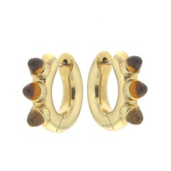 Citrin and Yellow Gold Earrings