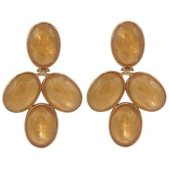 Citrine 18 Karat Pink Gold Earrings