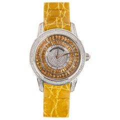 Citrine and Diamond Watch