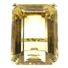Citrine and Gold Ring