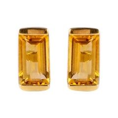 Citrine Bonbon Stud Earrings
