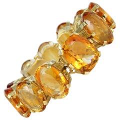 Citrine Bracelet Set in 18 Karat Yellow Gold