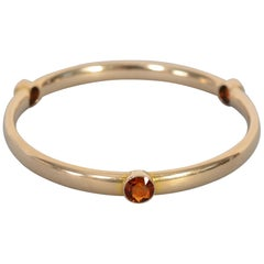 Citrine Gold Bangle Bracelet