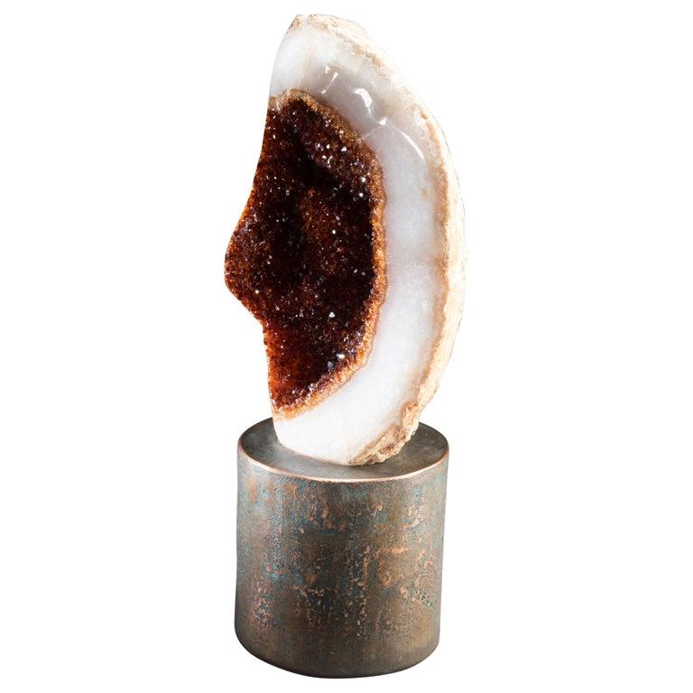 Citrine on Copper Base For Sale