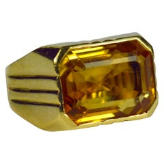Citrine Yellow Gold Ring
