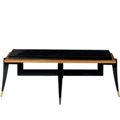 Citronnier Wood Coffee Table with Black Finish