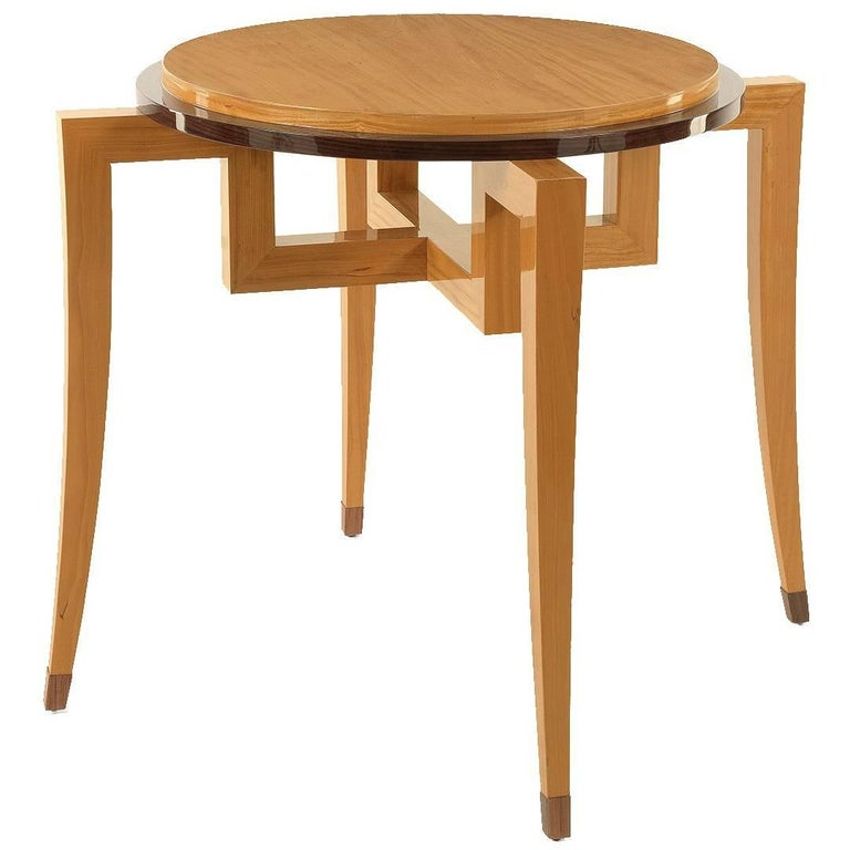 Vintage Burled Cypress Wood Live Edge Side Table At 1stdibs: Round French Merisier Table, Circa 1940 At 1stdibs