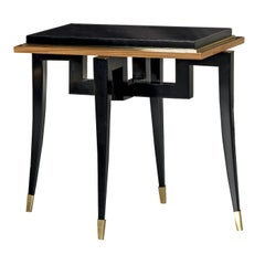 Citronnier Wood Side Table with Black Finish