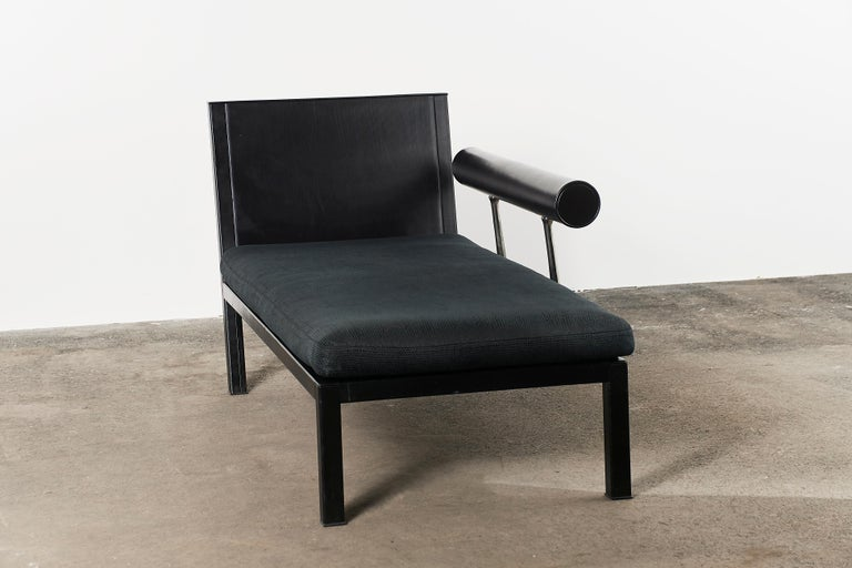 Citterio Sity Chaise Lounge for B&B Italia in Leather & Brioni London Upholstery For Sale 3