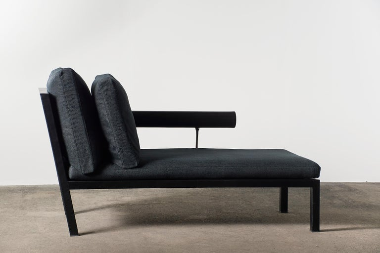 Mid-Century Modern Citterio Sity Chaise Lounge for B&B Italia in Leather & Brioni London Upholstery For Sale