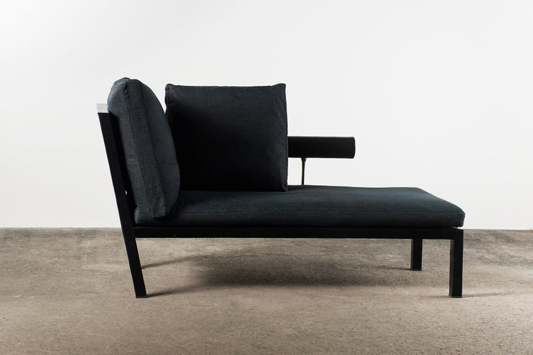 Italian Citterio Sity Chaise Lounge for B&B Italia in Leather & Brioni London Upholstery For Sale