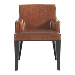 City Armchair in Leather with Metal Legs by Roberto Cavalli