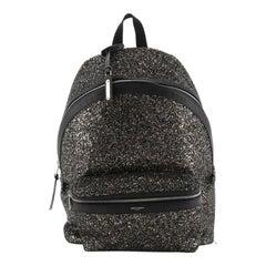 City Backpack Glitter Canvas Medium
