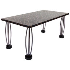 City Chrome-Plated Steel Table, by Ettore Sottsass from Memphis Milano