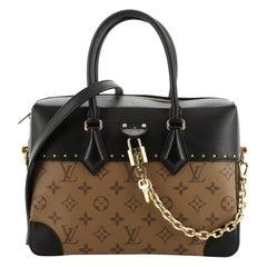 City Malle Handbag Reverse Monogram Canvas and Leather MM