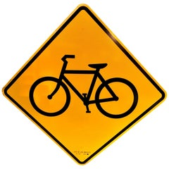 City of Los Angeles Yellow Bike Sign