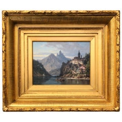 """City on an Alpine Lake"" by Charles Euphrasie Kuwasseg Jr., 1876"