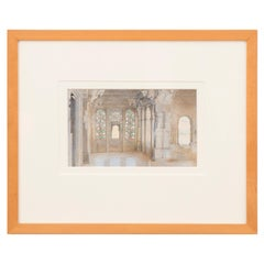 City Palace Udaipur Chandra Mahal by Artist Ceri Shields, Watercolor, 1989