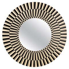 Citylights Wall Console Mirror Black and White by Matteo Cibic