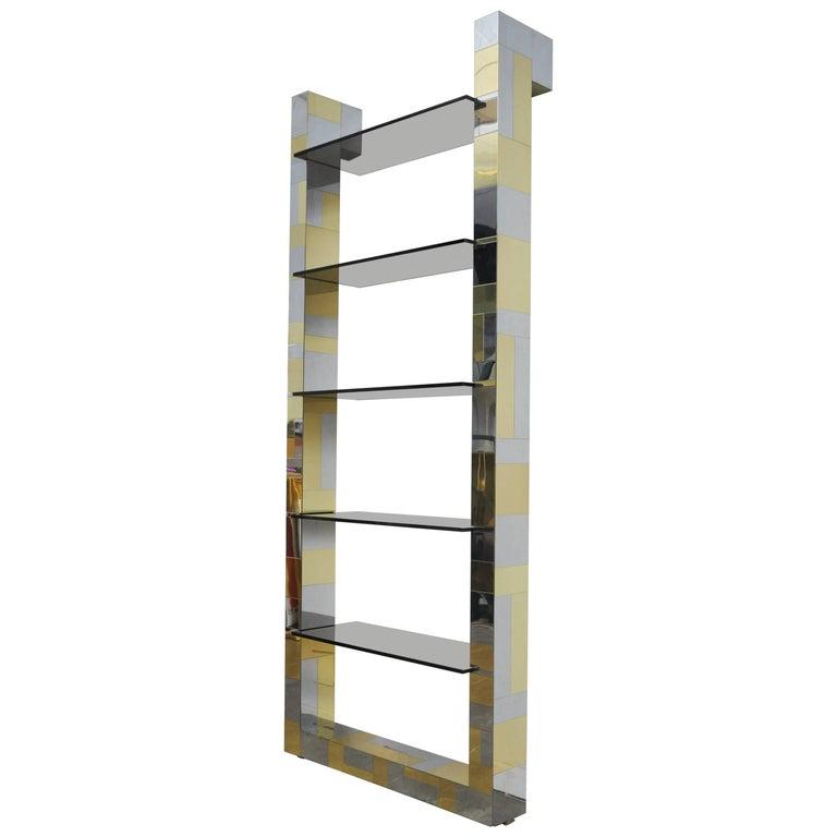 Cityscape Bookshelf by Paul Evans For Sale