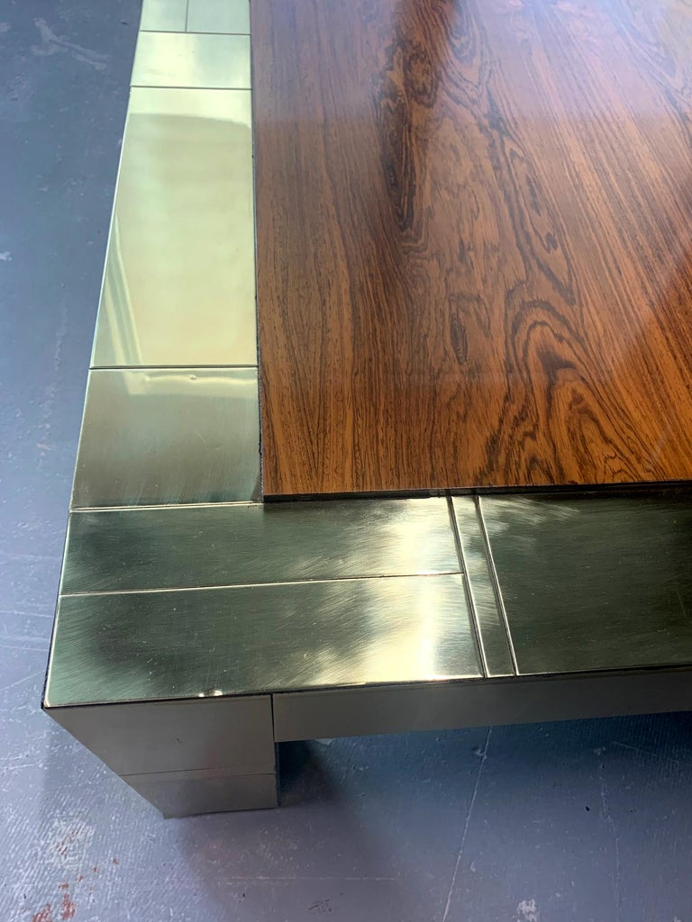 Brass Cityscape Coffee Table Paul Evans for Directional For Sale