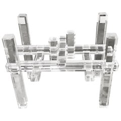 Cityscape Lucite Table Base in the Manner of Charles Hollis Jones