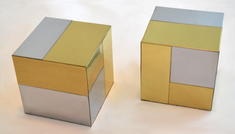Modern Cityscape Paperweights or Bookends by Paul Evans, circa 1970s For Sale