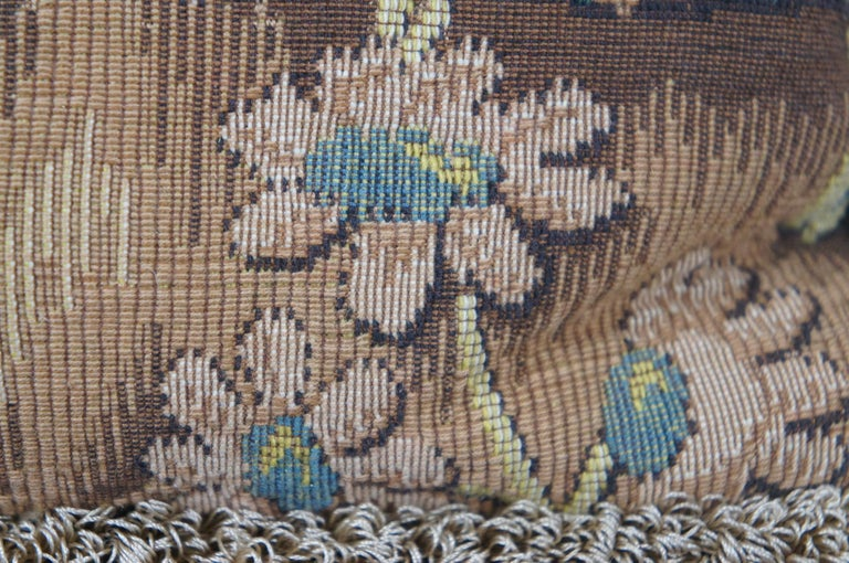 CJC Medieval Tapestry Needlepoint Tapestry Down Fill Throw Pillow Stag, France 6
