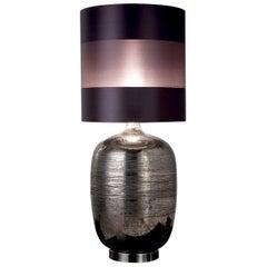 CL1886 Platinum-Plated Majolica Jar Lamp