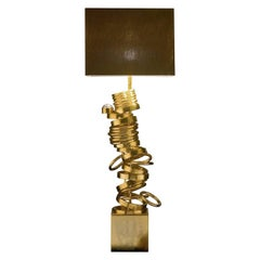 CL1900 Brown and Golden Table Lamp with Swarovski Crystal