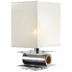 CL2102 Table Lamp with Crystalline Parchment Lampshade