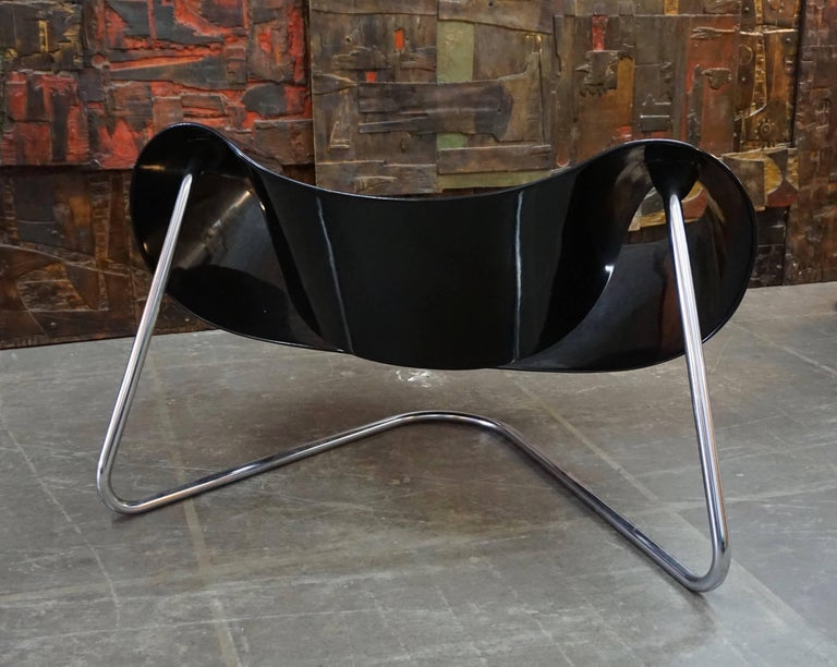 Mid-Century Modern CL9 Ribbon Chair by Leonardi and Stagi For Sale