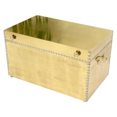 Clad Brass Studded Hope Chest Trunk Campaign Style