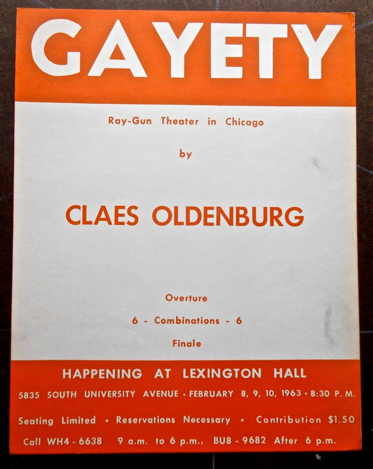 One of the original ephemeral Pop Art events of the 1960s, Claes Oldenburg's