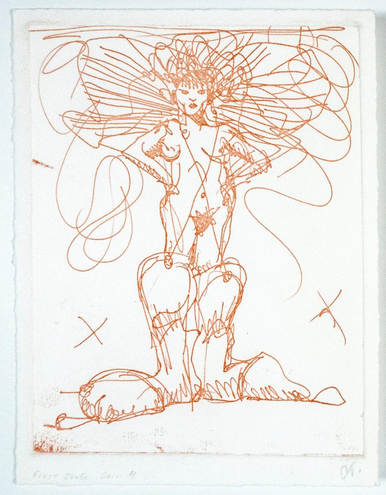 Boot Fairy (First state color 4) - White Nude Print by Claes Oldenburg