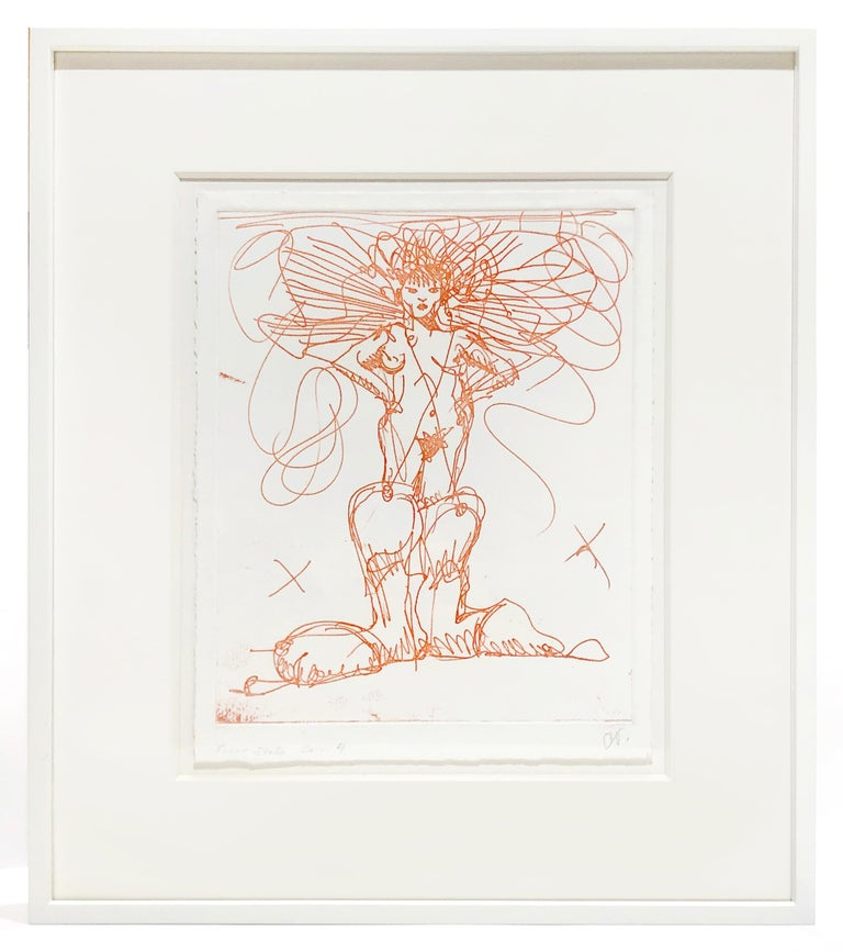 Claes Oldenburg Nude Print - Boot Fairy (First state color 4)