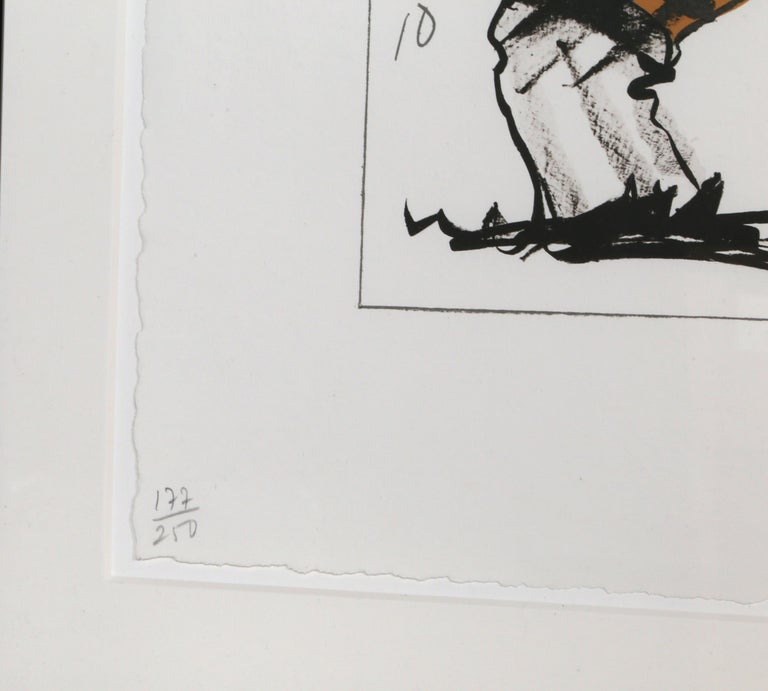 Cigarette Butt, Lithograph by Claes Oldenburg 1