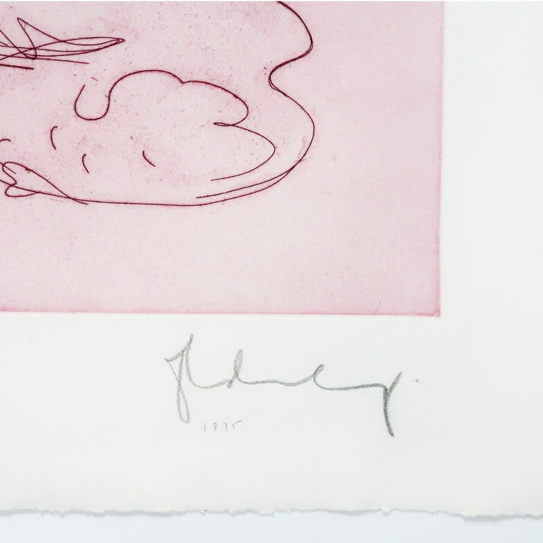 Figure in Skirt Claes Oldenburg playful erotic nude etching in rainbow of color For Sale 5