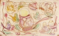 Ice Cream Desserts (A) Claes Oldenburg dessert parfait etching in rainbow pastel