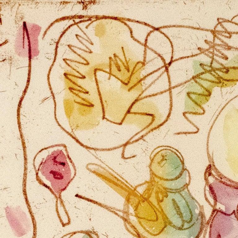 Ice Cream Desserts (A) Claes Oldenburg dessert parfait etching in rainbow pastel For Sale 1