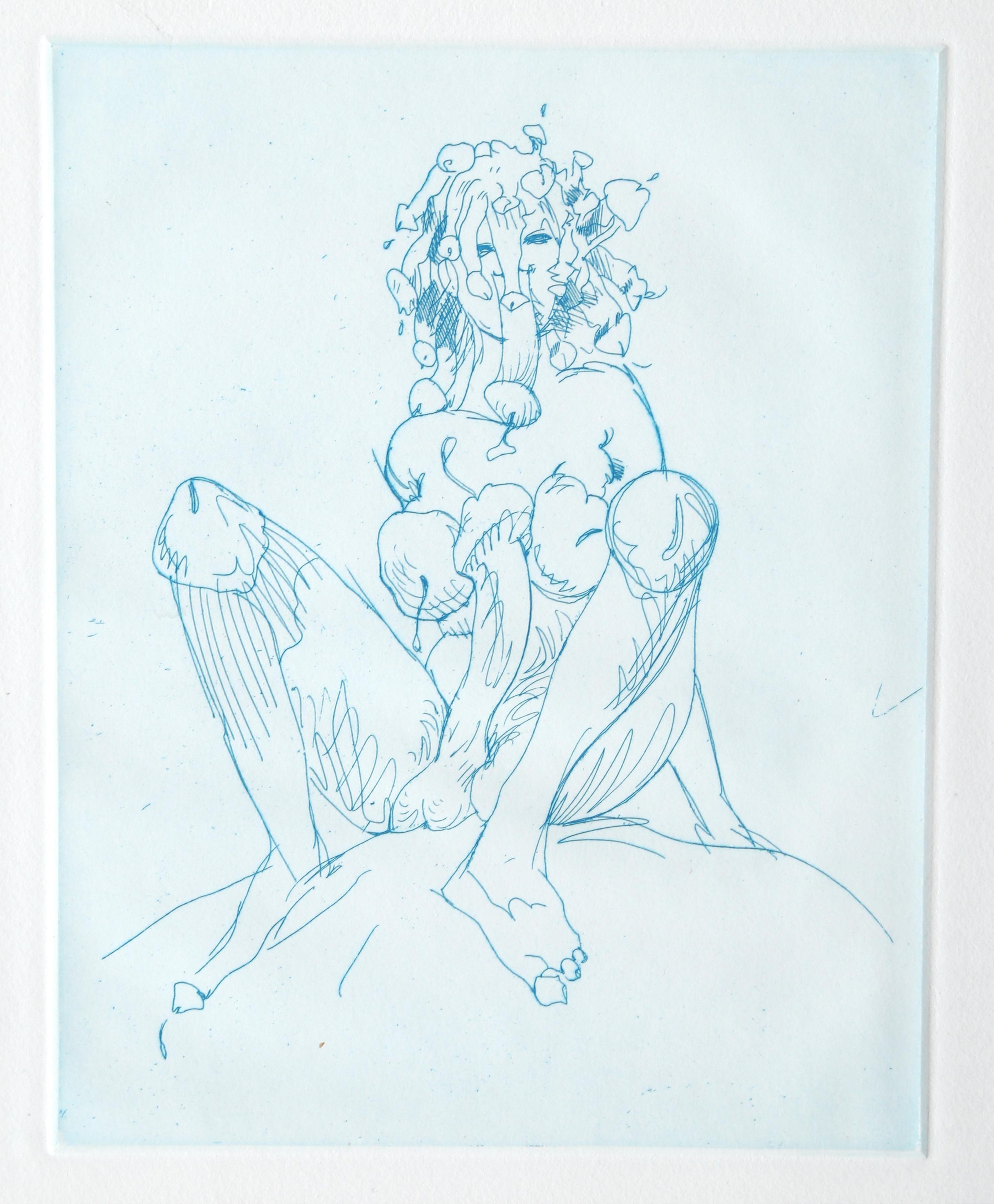 Medusa, Etching by Claes Oldenburg