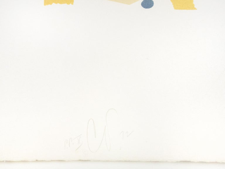 Snare Drum Claes Oldenburg lithograph from Drum Set 1971 soft sculpture - White Figurative Print by Claes Oldenburg
