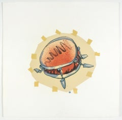 Snare Drum Claes Oldenburg lithograph from Drum Set 1971 soft sculpture
