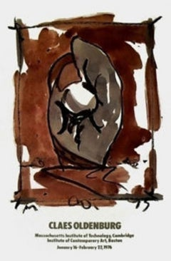 Study for Standing Mitt, 1976 Event Lithograph, Claes Oldenburg