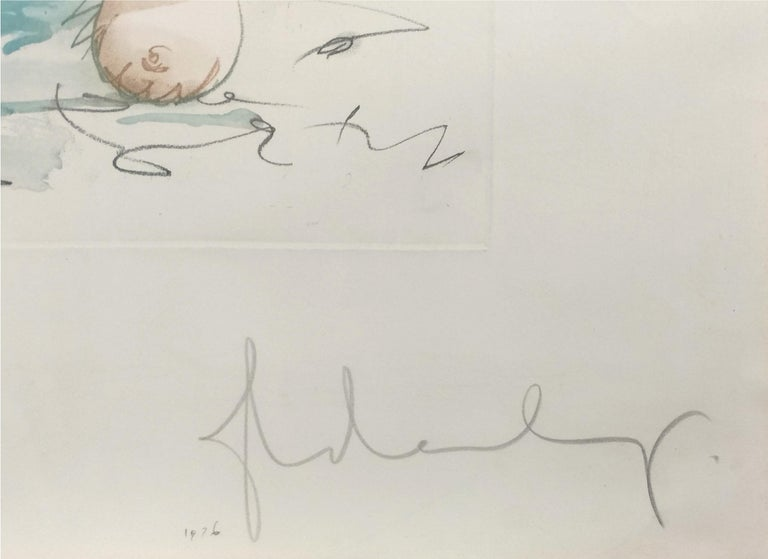 TONGUE CLOUD OVER LONDON, WITH THAMES BALL - Print by Claes Oldenburg