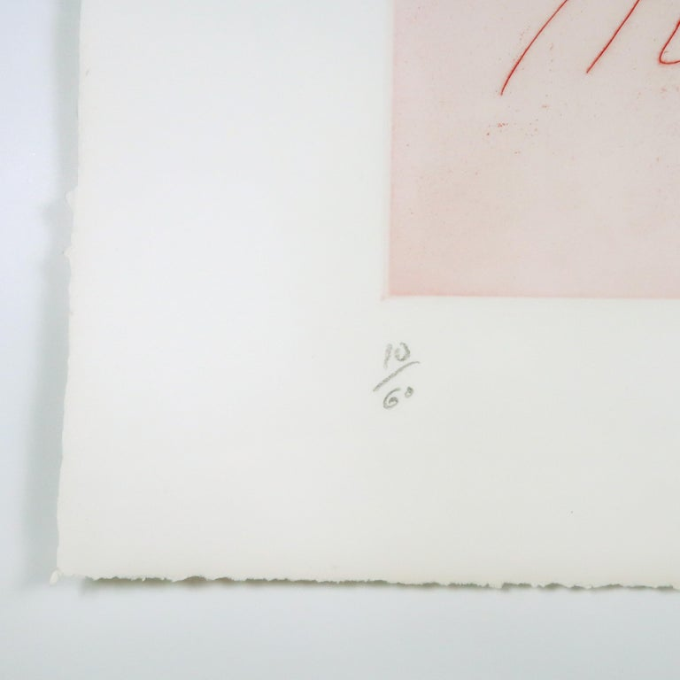 Two Profiles Claes Oldenburg playful erotic etching in rainbow of color For Sale 4