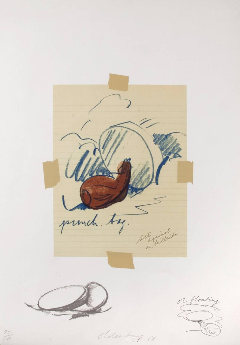 Claes Oldenburg Abstract Print - Untitled (Punching Bag)